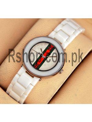 Gucci White Ceramic Ladies Watch Price in Pakistan