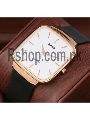 Rado Square Rubber Belt Men's Watch Price in Pakistan