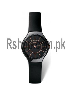 Rado True Thinline black rubber Watch Price in Pakistan