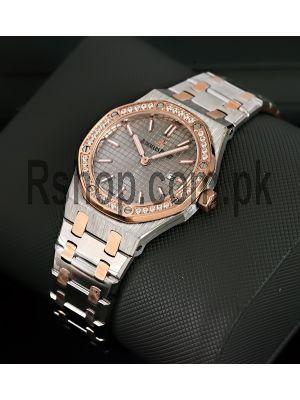 Audemars Piguet  Royal Oak Two Tone Diamond Ladies Watch Price in Pakistan