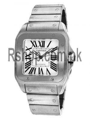 Cartier Men's W200737G Santos 100 XL Stainless Steel Watch Price in Pakistan
