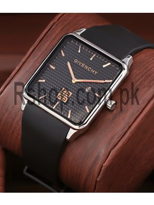 Givenchy Black Dial Square Ultra Slim Watch Price in Pakistan