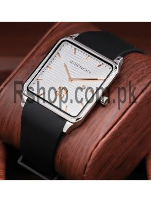 Givenchy Silver Dial Square Ultra Slim Watch Price in Pakistan