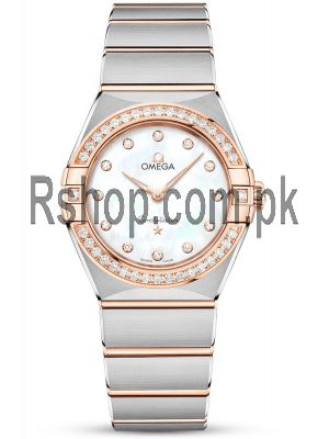 OMEGA Constellation Manhattan Two-Tone Diamond Dial and Bezel Watch Price in Pakistan
