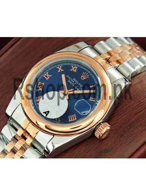 Rolex Lady-Datejust Blue Dial Watch Price in Pakistan