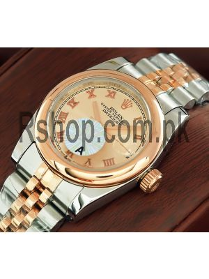 Rolex Lady-Datejust Rose Gold Dial Watch Price in Pakistan