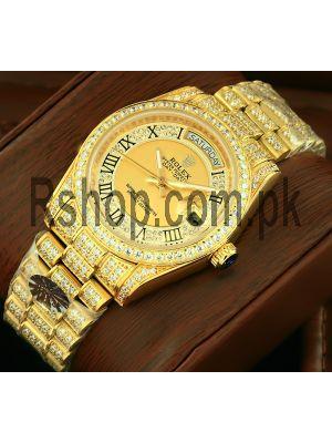 Rolex President Day-Date Gold Diamond Watch Price in Pakistan
