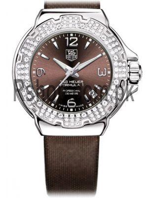Tag Heuer Formula 1 Diamond Bezel Ladies Brown Watch Price in Pakistan