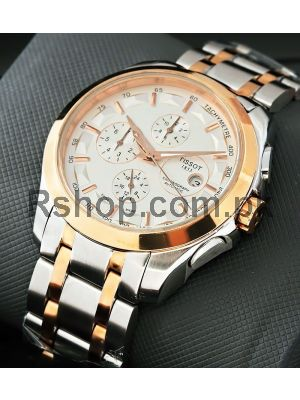 Tissot Coutourier White Dial Chronograph Replica Watches in Lahore,