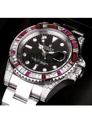 Rolex GMT Master II Diamond Case Watch Price in Pakistan