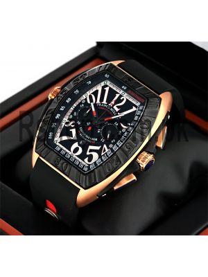 Franck Muller Geneve Rubber Strap Watch Price in Pakistan