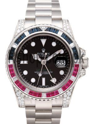 Rolex GMT Master II Red & Blue Diamond Case Watch Price in Pakistan