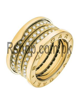 Bvlgari Yellow Gold Diamond B.Zero1 Ring Price in Pakistan