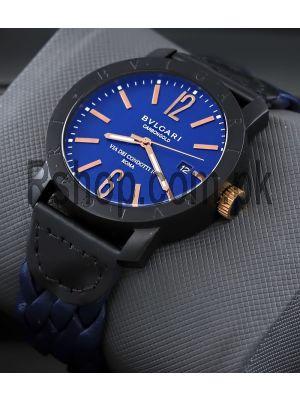Bvlgari Carbon Gold Blue Watch Price in Pakistan