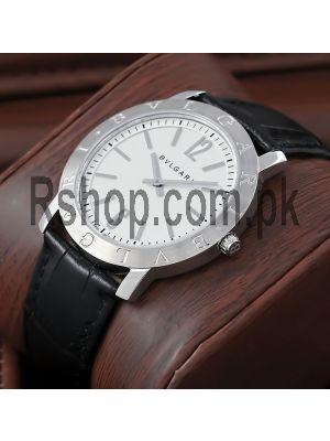Bvlgari Diagono Black Leather Straps Watch Price in Pakistan