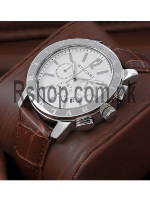 Bvlgari Diagono White Dial Watch Price in Pakistan