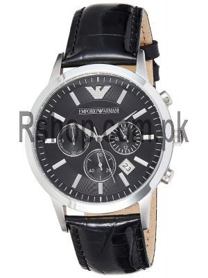 Emporio Armani Chronograph Black Dial Men's Watch Price in Pakistan