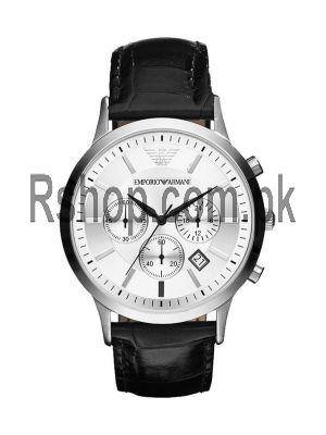 Emporio Armani AR2432 Men's Classic Black Leather Chronograph Watch Price in Pakistan