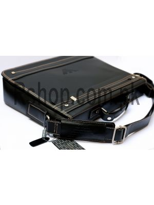 Giorgio Armani Mens Leather Bag Black Price in Pakistan