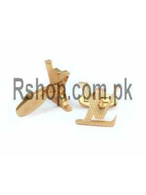 Louis Vuotton Gold Metal Cufflinks Price in Pakistan