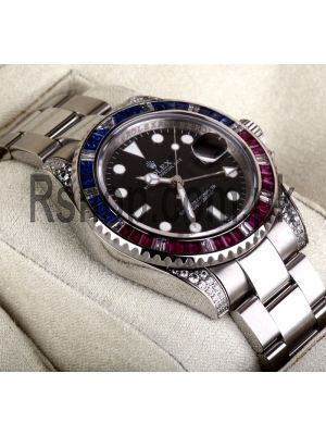 Rolex GMT Master II Sapphire Ruby Bezel Diamond Watch Price in Pakistan