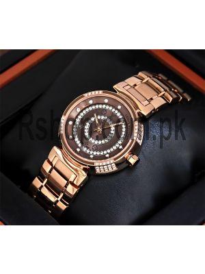 Louis Vuitton Ladies Rose Gold Diamond Watch Price in Pakistan