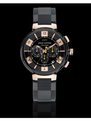 Louis Vuitton Tambour- Lv277 Automatic Chronometer, Black Rubber Strap Watch Price in Pakistan