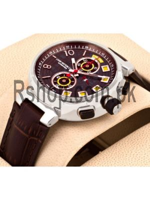 Louis Vuitton Cup Regate Working Chronograph with Brown Dial Brown Leather Strap Watch Price in Pakistan