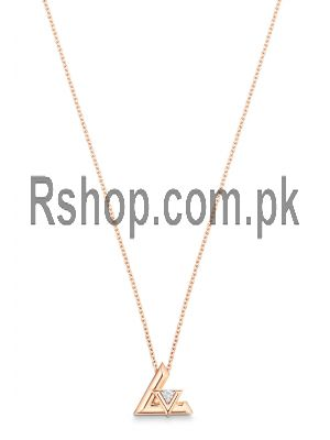 LV Volt One Small Pendant, Pink Gold And Diamond Necklace Price in Pakistan