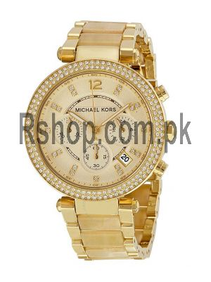 Michael Kors Parker Champagne Dial Gold Tone Chronograph Women's Watch Price in Pakistan