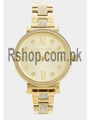 Michael Kors Sofie Pave Crystal Gold Dial Ladies Watch Price in Pakistan