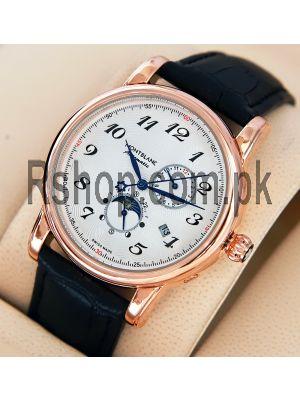 Montblanc Perpetual Calendar Black Strap Watch Price in Pakistan