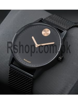 Movado Bold Black Mesh Band Watch Price in Pakistan