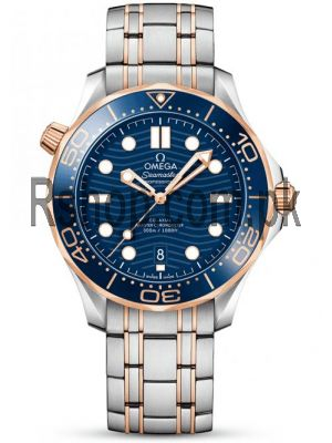 Omega Seamaster Diver Blue Dial Two-Tone Men's Bracelet Watch Price in Pakistan