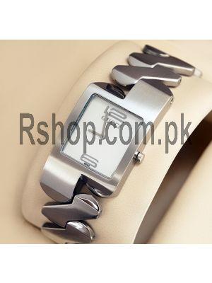 Gucci Silver Zig zag Wrist Watch  Price in Pakistan