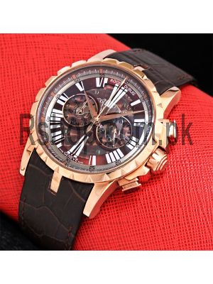 Roger Dubuis Excalibur Chronograph Brown Watch Price in Pakistan