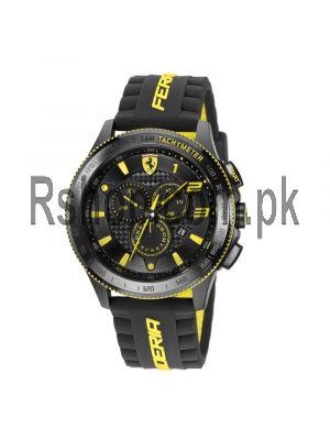 Scuderia XX Ferrari Carbon Fibre Chronograph Watch Yellow Price in Pakistan