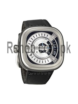 Sevenfriday M Series Silver Dial Black Rubber Automatic Men's Watch M1 Watch Price in Pakistan