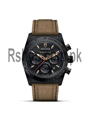 Tudor Fastrider Blackshield Alcantara Strap Ceramic Watch Price in Pakistan