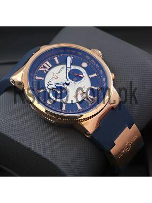 Ulysse Nardin Maxi Marine Blue Chronograph Watch Price in Pakistan