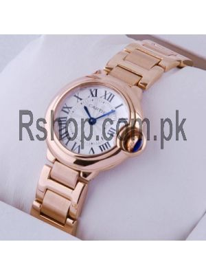Cartier Ballon Bleu Rose Gold Small Ladies Watch Price in Pakistan